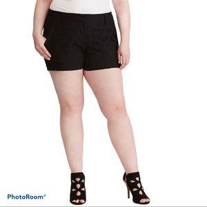 TORRID plus size black lace shorts